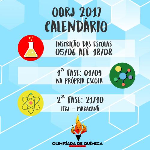 calendário OQRJ