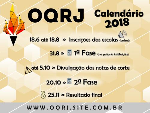 Calendário OQRJ regular