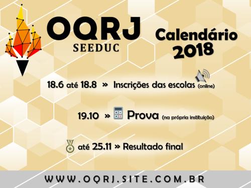 Calendário OQRJ seeduc