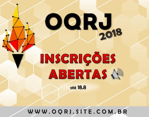 INSCRIÇÕES ABERTAS 2018